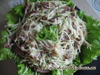 Салат из редьки с сыром и майонезом