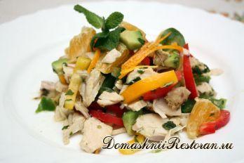 Салат из сладкого жареного перца