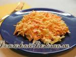 Салат морковный с яйцом