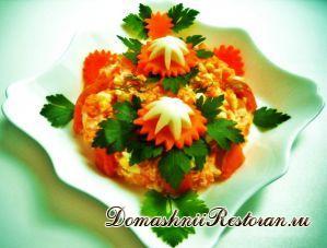 Салат с малосольной рыбкой