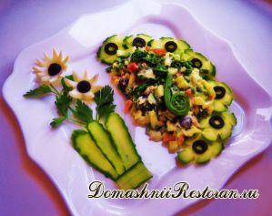 Салат с папоротником.