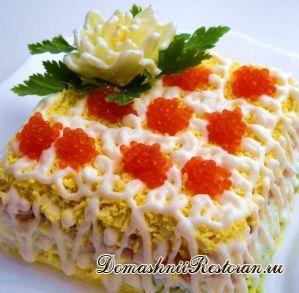 Слоеный салат «Праздничный»