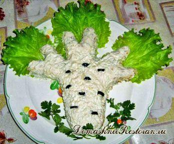 Слоёный салат «Берёзка»