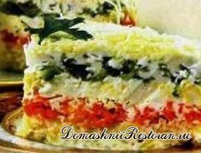 Торт овощной