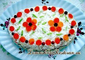 Торт закусочный «Печенка под шубой»
