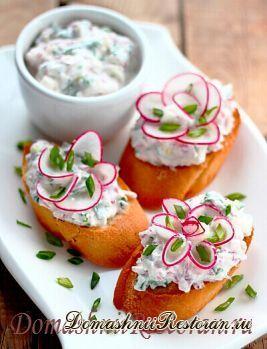 Творожно-овощные бутерброды