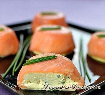 Закуска из лосося и сыра
