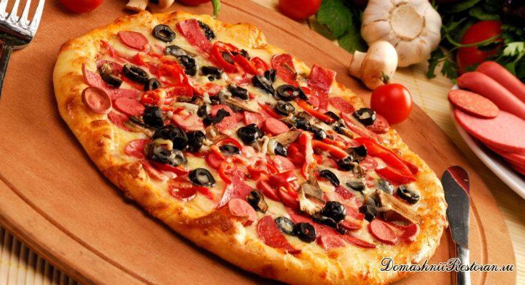 Закуска - пицца из лаваша