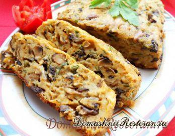 Закусочный хлебец из шампиньонов