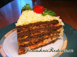 Закусочный тортик «Печёночный»