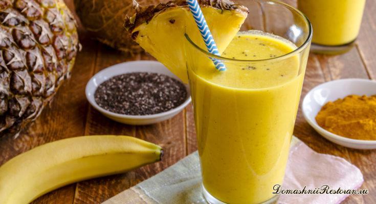 Ананасово-банановый смузи