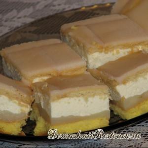 Бисквитный торт «Лимонный»