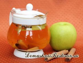 Чай с мёдом и яблоками