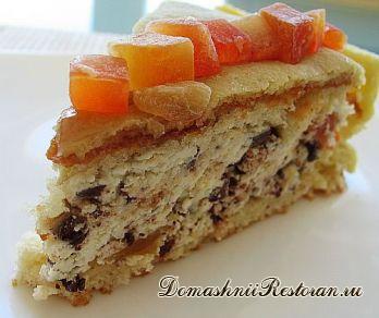 Фруктово-миндальный торт