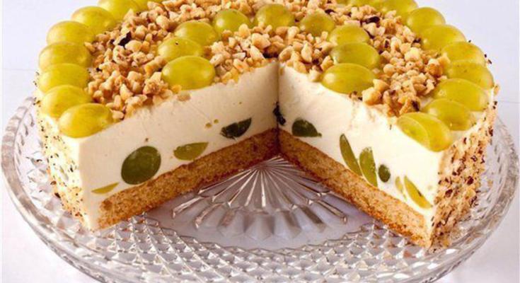 Фруктово-творожный торт без выпечки