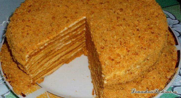 Медовый торт с цитрусовыми оттенками