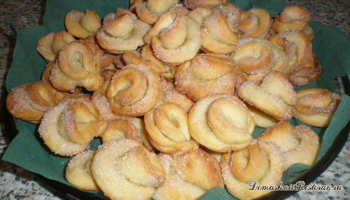 Печенье «Творожные розочки»