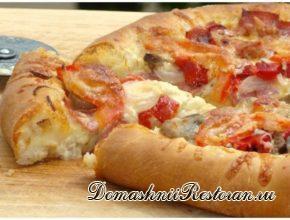 Пицца на белом соусе