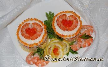 """Праздничный салат """"Сердце моря"""""""