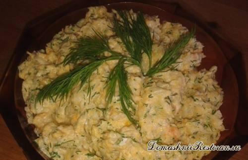 """Салат из рыбы с морковью """"Раковые шейки"""""""