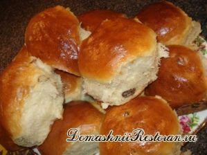 Татарские булочки с изюмом