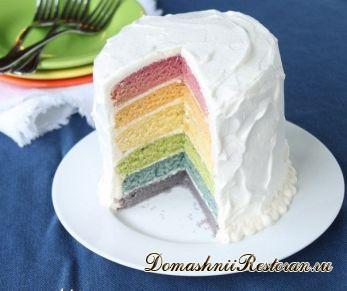 """Торт """"Радуга"""" с натуральными красителями"""