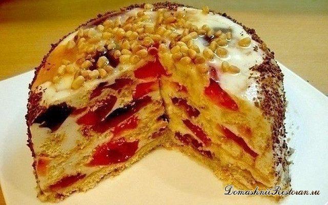 Торт без выпечки Битое стекло