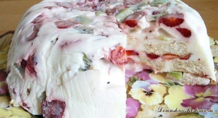 Тортик на десерт. Легкий и вкусный!