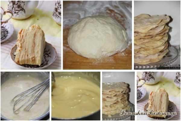 торт наполеон с пломбиром приготовление