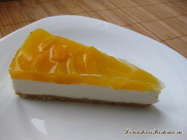 Чизкейк с персиками (без выпечки)