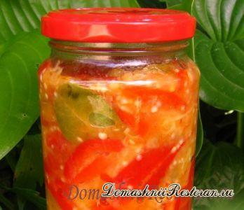 Салат из баклажанов и перцев на зиму