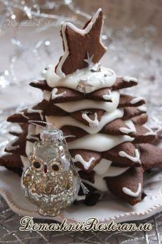 Шоколадно-имбирная пряничная ёлочка