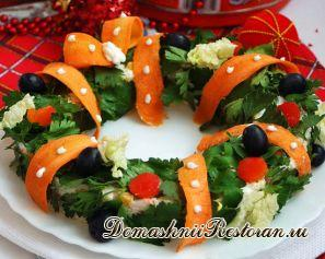 Новогодний салат «Венок»