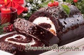 "Рождественский торт ""Полено"""