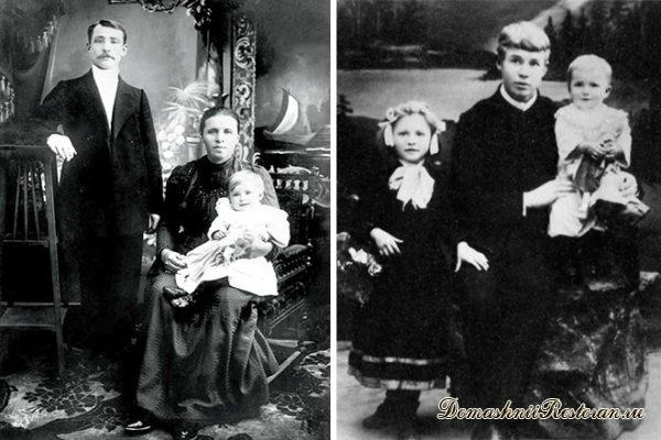 Сергей Есенин с родителями и сестрами