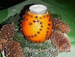 Свечи из апельсина