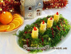 Украшение салата или паштета «Новогодний»
