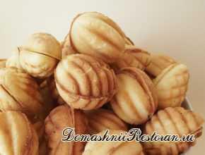 Печенье Орешки - рецепт в форме
