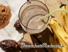 шоколад банан и финики