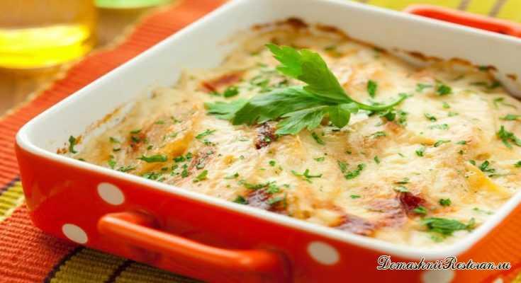 Картофельное суфле с чесноком