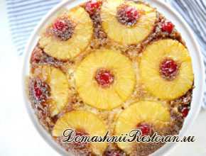 Перевернутый ананасовый кекс