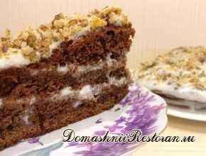 """рецепт вкусного торта на кефире """"Фантастика"""""""