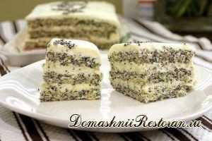 Маково-творожный диетический торт