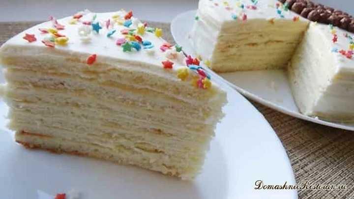 Нежный творожный торт