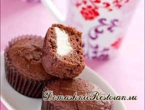 Шоколадно- творожные кексы
