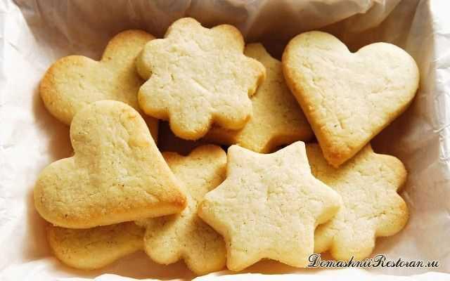 Домашнее печенье в виде коржиков