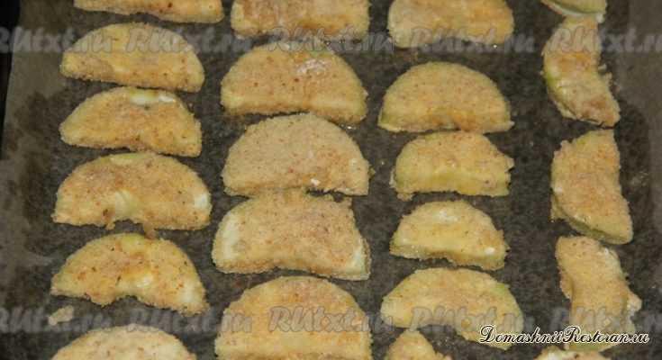 Кабачки в панировке в духовке