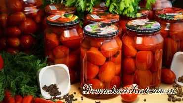 Закатываем помидоры без уксуса