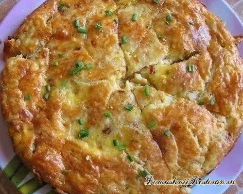 Закусочный пирог с плавленным сырком