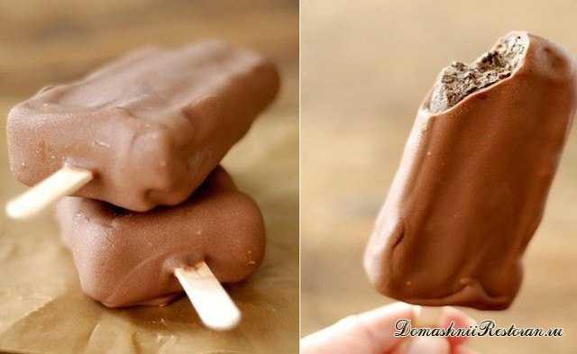 Домашний шоколадный пломбир